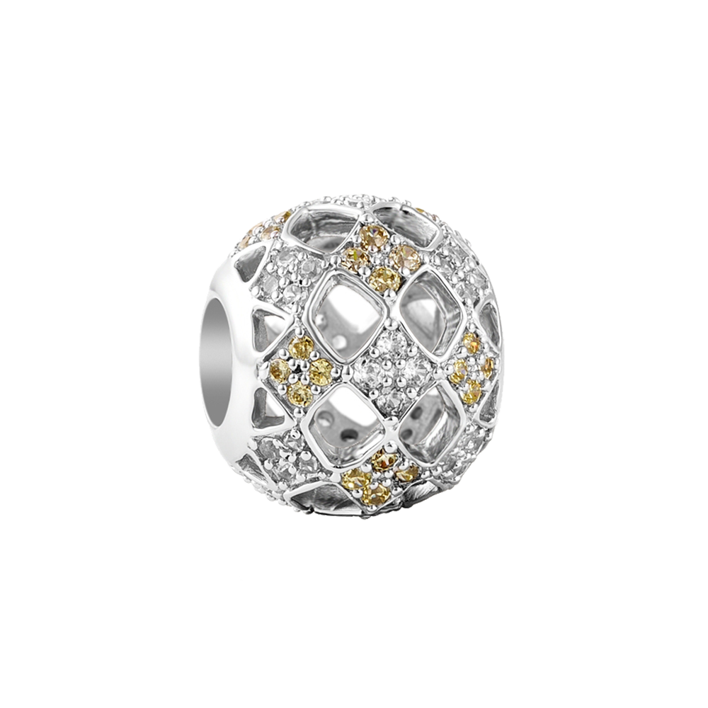 Yellow Kaleidoscope Pavé Charm