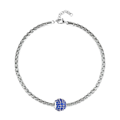 Blue Pave Charm Bracelet - Buy Charm Bracelet Online in India