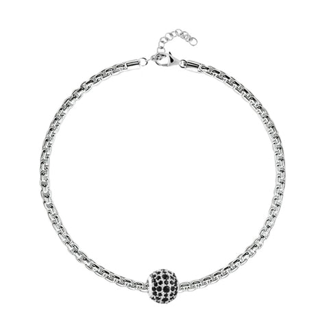 Black Pave Charm Bracelet - Buy Charm Bracelet Online in India
