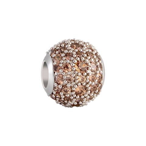 Brown Pavé Charm