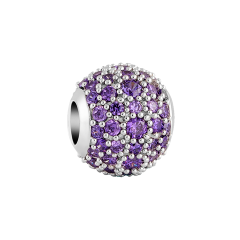 Purple Pavé Charm