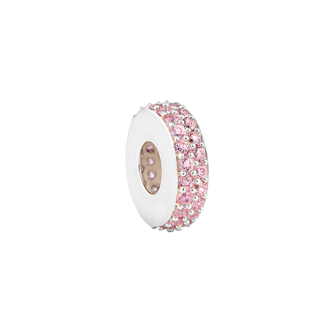 Pink Pave Melody Filler Charm