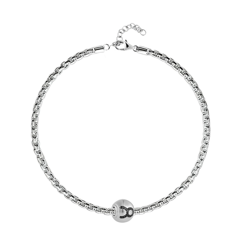 "Buy Zodiac ""Taurus"" Charm Bracelet at Talisman World. Find an Exclusive collection of charm bracelet online India, Charms For Bracelets, bracelets for women's silver, charms for bracelets silver available."