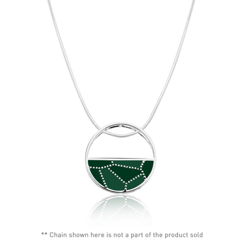 Shades of green Sterling Silver Pendant