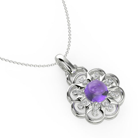 Shop Necklace | Luminious Lavender Floret Necklace | Necklaces | TALISMAN