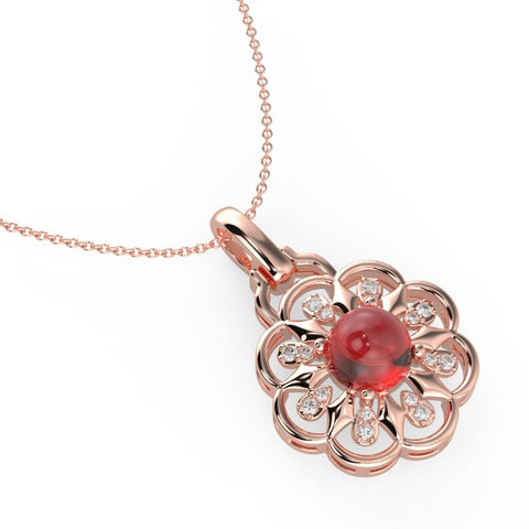 Buy Necklace Set | Luminious Red Floret Necklace | Necklaces | TALISMAN
