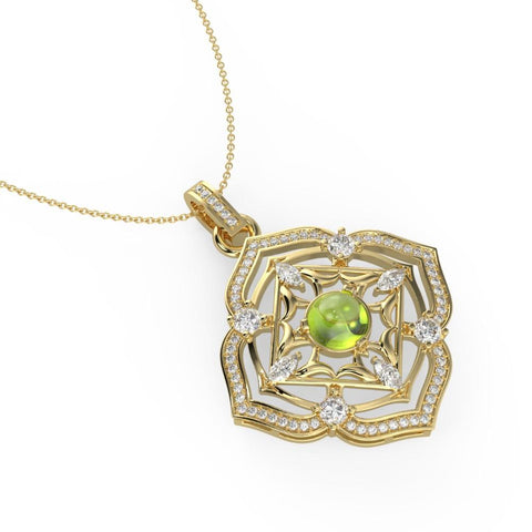 Buy Necklace Set Online | Regal Peridot Necklace | Necklaces | TALISMAN