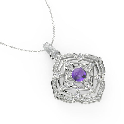 Regal Amethyst Necklace
