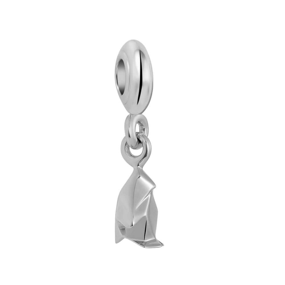 Poetic Penguin Charm - Silver Dangle Charms For Women Online