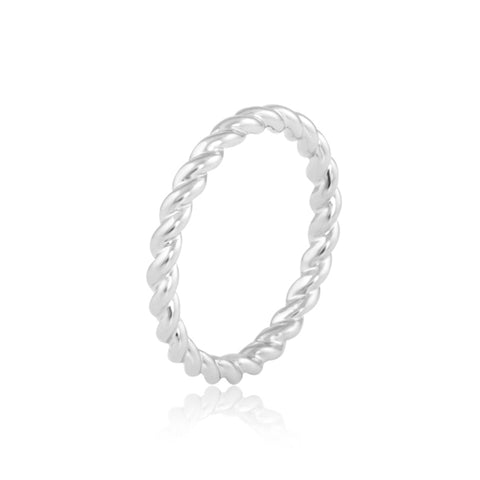 "Twisted Band Ring Online | Twisted Eternity Band | ""9 to 9"" Office Wear 
