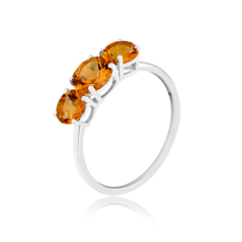 Citrine Trio Gemstone Ring