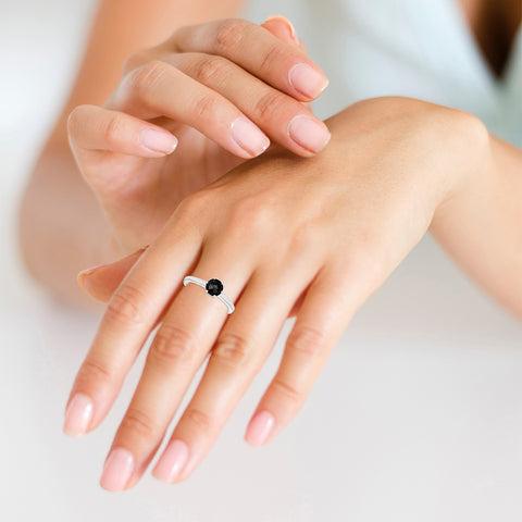 Classic Black Spinel Ring