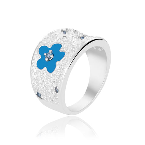 Buy Rings Online | Blue Blossom Ring | Ombre' | TALISMAN