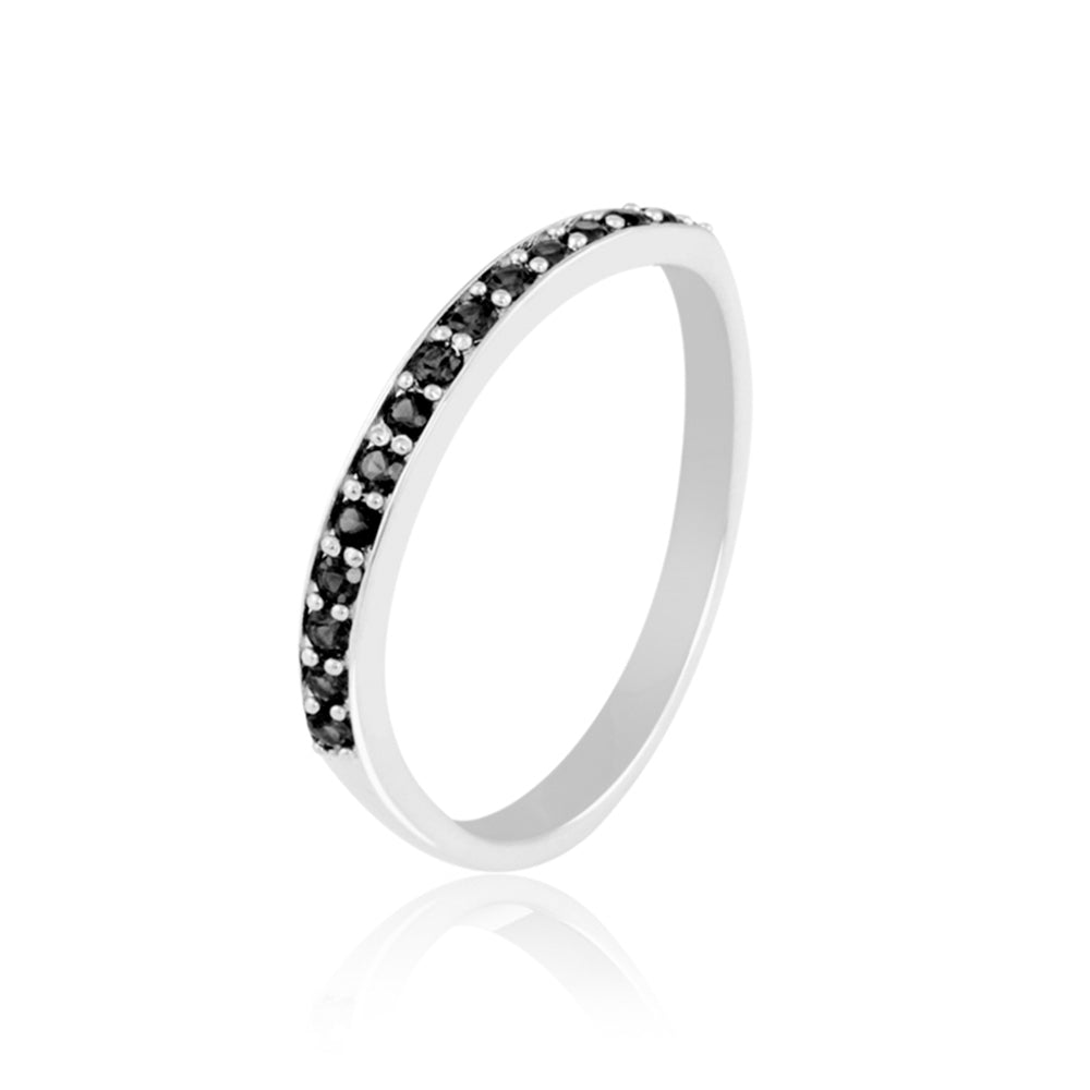 Sparkle Black Stack Ring