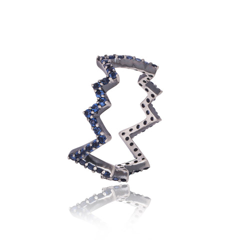 Buy Blue Pave Rings For Girls Online