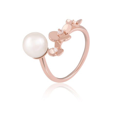 Pearl Drop Cocktail Ring