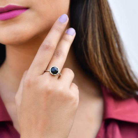 Statement Rings| Demi Black Ring | Rings | TALISMAN