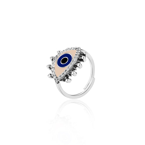 Buy Rings Online | Positive vibes Evil Eye Adjustable Ring | Evil Eye | TALISMAN