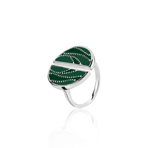 Silver Rings Online | Shades of green Sterling Silver Ring | Ombre' | TALISMAN