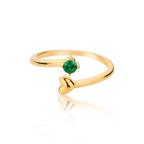 Hearts Ring - Green
