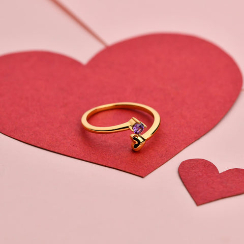 Rings For Girls Online | Hearts Ring - Purple | Amore' - Love | TALISMAN