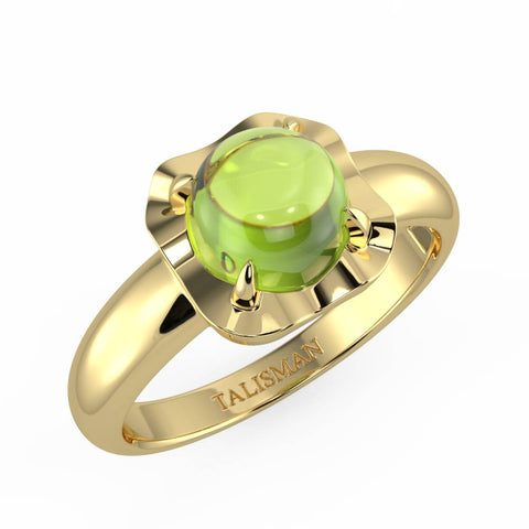 Birthday Gift Ring For Girlfriend | Shimmering Green Vintage Ring | Rings | TALISMAN