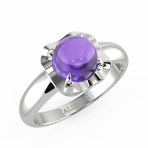 Ring Gift To Girlfriend| Shimmering Lavender Vintage Ring | Rings | TALISMAN