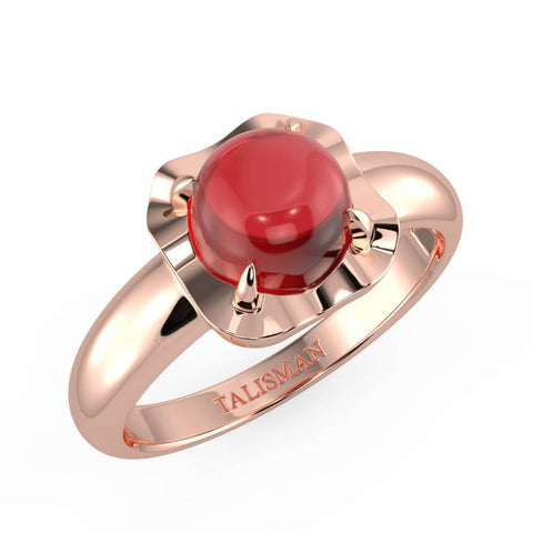 Ring Gift For Girlfriend | Shimmering Red Vintage Ring | Rings | TALISMAN