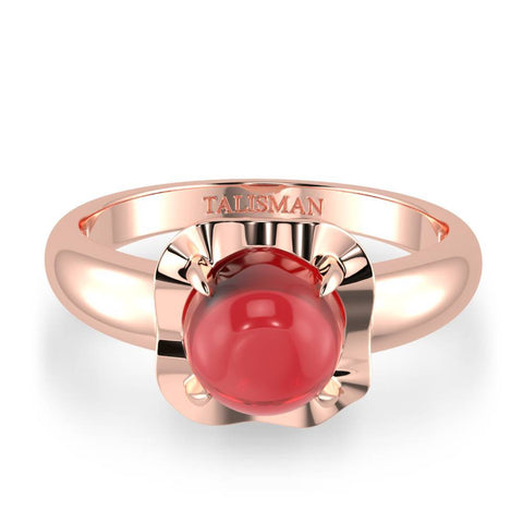 Shimmering Red Vintage Ring