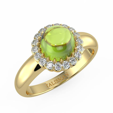 Sparkling Green Halo Ring