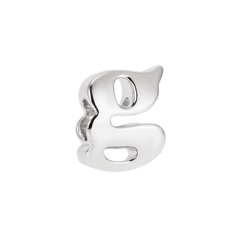 Vintage G Silver Charm,buy charms online in india,buy online silver charms,silver charms online in india,alphabets charms online in india