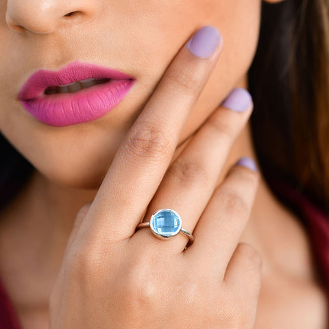 Rings Online | Demi Blue Ring | Rings | TALISMAN