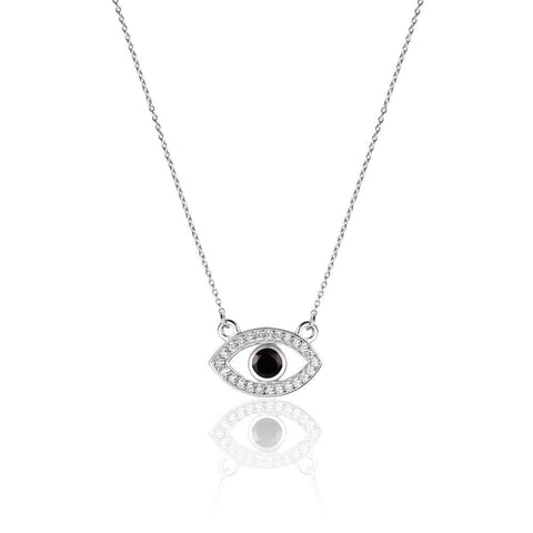 Powerful Evil Eye Black Onyx Necklace