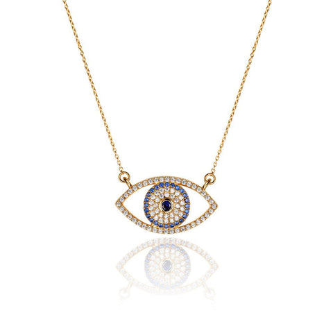 Daring Evil Eye Blue Necklace