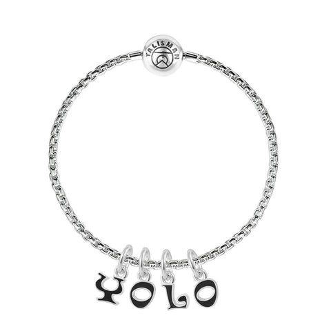 "Shop for Charm Bracelets | ""YOLO"" Charm Bracelet 