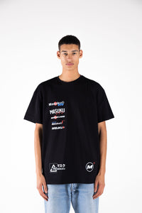 Multi-logo Black Tee