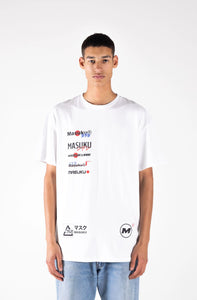 Multi-logo White Tee