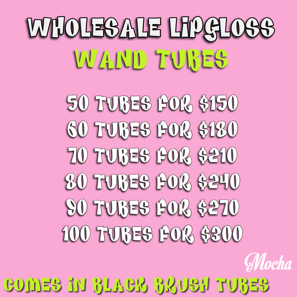 Wholesale Lipgloss in Wand Tubes