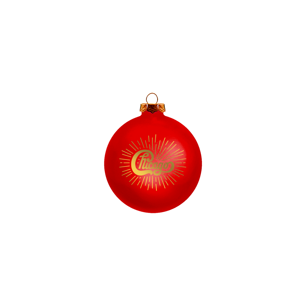 Chicago Red Ornament