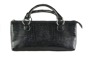 Croc Black small Wine Cooler Handbag