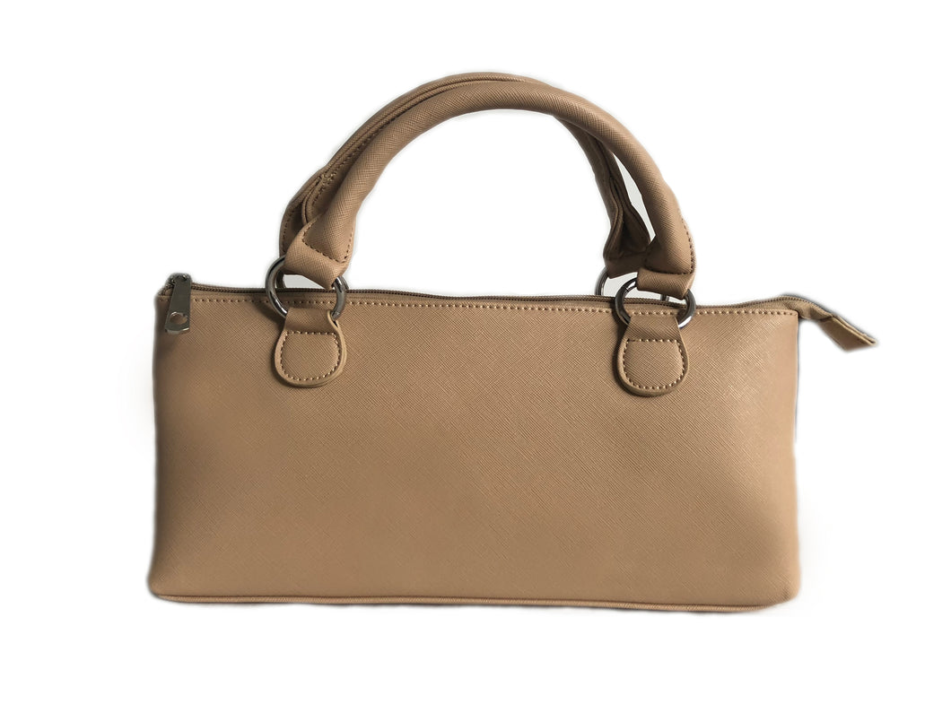 Tan small Wine Cooler Handbag