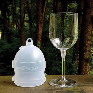 NEW! Collapsible Wine Glass & Case