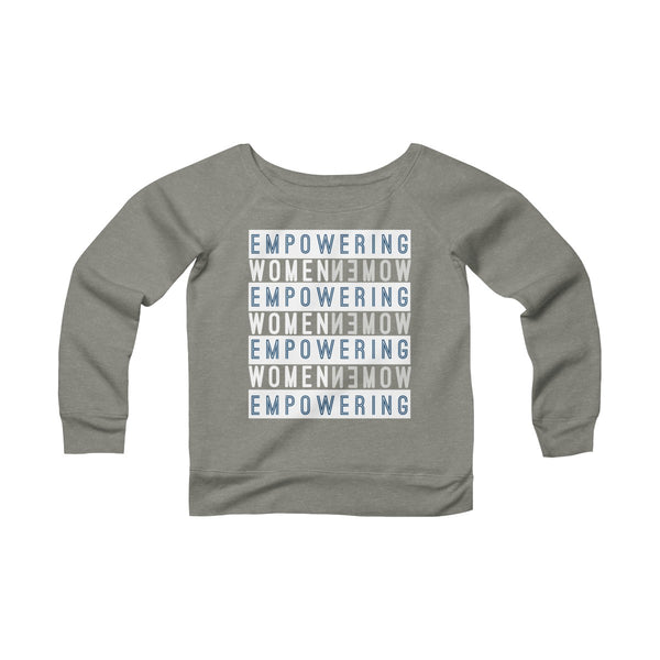 Women's Wide Neck Sweatshirt | Empowering women