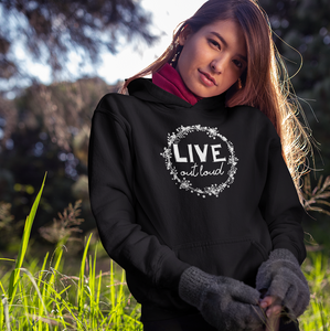 Women pullover hoodie | Live Out Loud