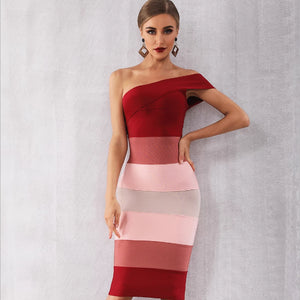 Bandage Heaven One Shoulder Dress - Kaya chic