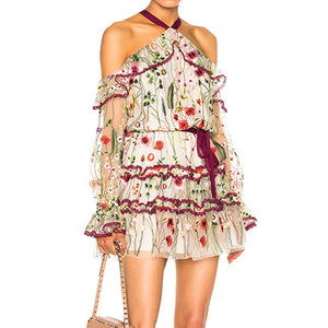 Runway Halter Dress - Kaya chic