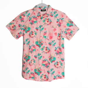 Strawberry Tiel Button Down Shirt