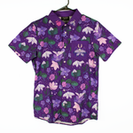 Twilight Moths Embroidered Button Down Shirt