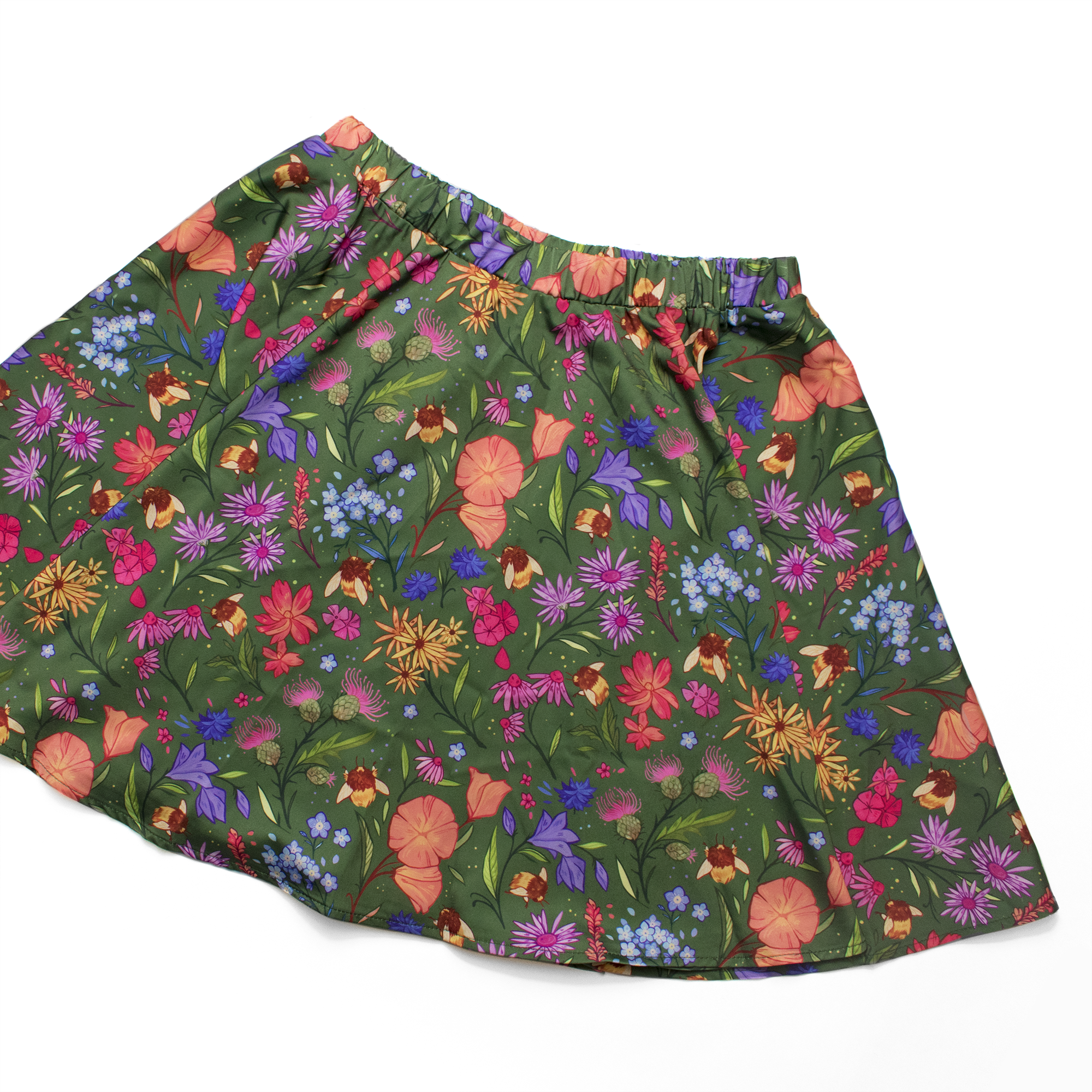 [PREORDER] Secret Garden: Bee & Wildflowers Mini Skirt