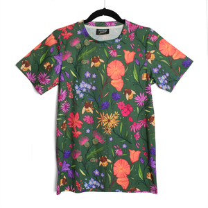 Secret Garden: Bee & Wildflowers Patterned T Shirt